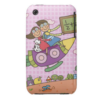 Boy holding a blackboard sitting with a girl on iPhone 3 Case-Mate case