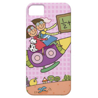 Boy holding a blackboard sitting with a girl on iPhone SE/5/5s case