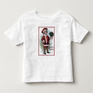Boy Holding a Bushel of Holly Toddler T-shirt