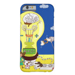 Boy holding a butterfly net with a girl holding barely there iPhone 6 case