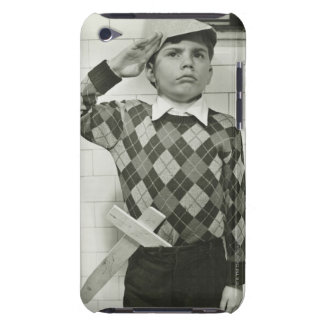 Boy Holding a Wooden Sword Case-Mate iPod Touch Case