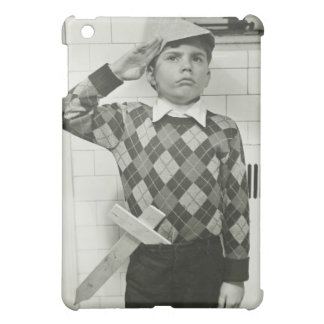 Boy Holding a Wooden Sword Cover For The iPad Mini