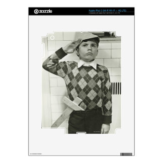 Boy Holding a Wooden Sword iPad 3 Skin
