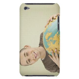 Boy holding globe Case-Mate iPod touch case