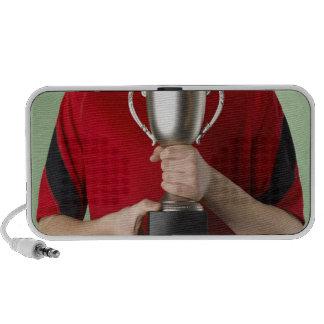 Boy Holding Trophy iPod Speaker