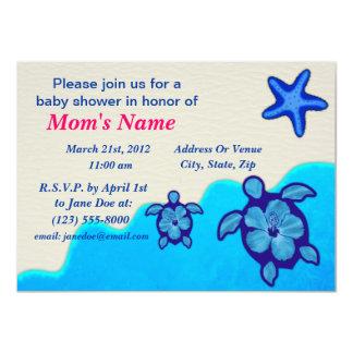 Boy Honu Baby Shower 4.5x6.25 Paper Invitation Card