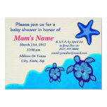 Boy Honu Baby Shower Personalized Invitations