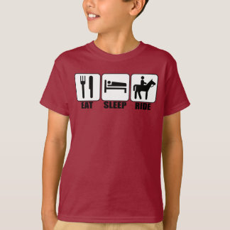 Boy Horseback Rider Eat Sleep Ride a Horse T-shirt