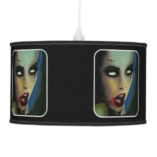 'Boy Hungry Zombie' on a hanging pendant lamp