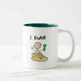 Boy I Build Castles Tshirts and Gifts Two-Tone Coffee Mug