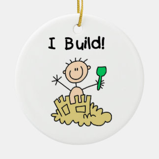 Boy I Build Ceramic Ornament