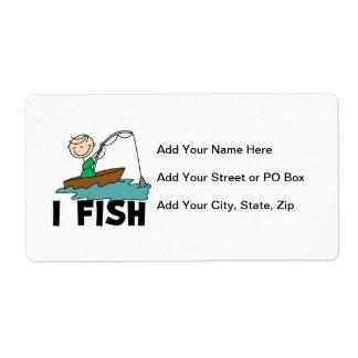 Boy I Fish Label