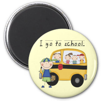 Boy I Go To School T-shirts and Gifts 2 Inch Round Magnet