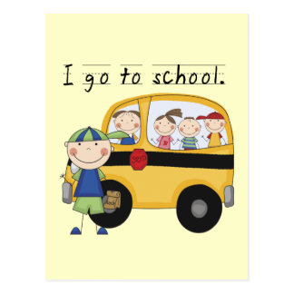 Boy I Go To School T-shirts and Gifts Postcard