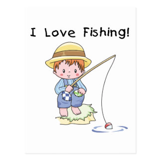 Boy I Love Fishing Tshirts and Gifts Postcard