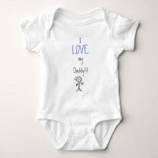 boy, I, LOVE, my Daddy!!! Baby Bodysuit
