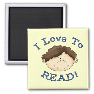 Boy I Love to Read T-shirts and Gifts Magnets