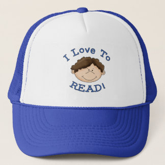 Boy I Love to Read T-shirts and Gifts Trucker Hat