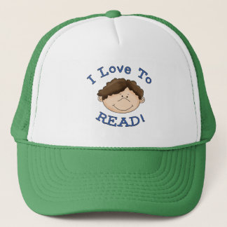 Boy I Love to Read Tshirts and Gifts Trucker Hat