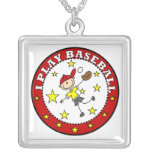 Boy I Play Baseball T-shirts and Gifts Necklace