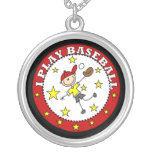 Boy I Play Baseball T-shirts and Gifts Custom Necklace