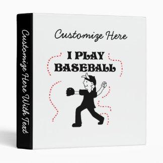 Boy  I Play Baseball Tshirts and Gifts Binder