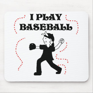 Boy  I Play Baseball Tshirts and Gifts Mouse Pad