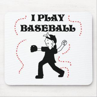 Boy  I Play Baseball Tshirts and Gifts Mouse Pad