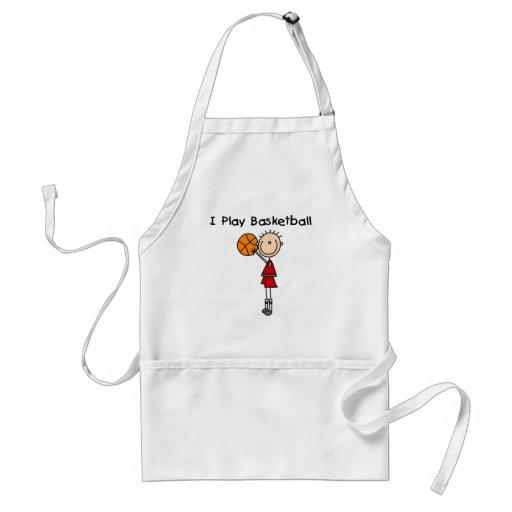 Boy I Play Basketball Aprons