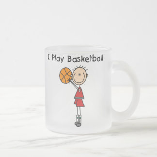 Boy I Play Basketball Frosted Glass Coffee Mug