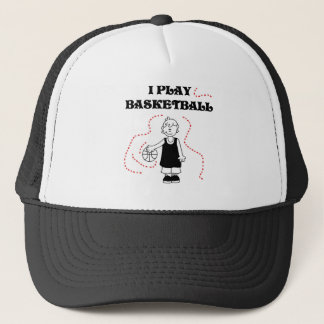 Boy I Play Basketball T-shirts and Gifts Trucker Hat
