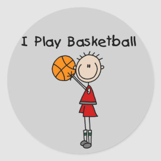 Boy I Play Basketball Tshirts and Gifts Classic Round Sticker