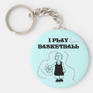 Boy I Play Basketball Tshirts and Gifts Keychain