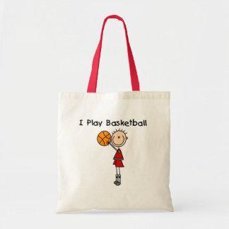 Boy I Play Basketball Tshirts and Gifts Tote Bag