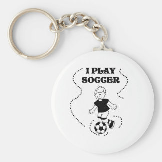Boy I Play Soccer Key Chain