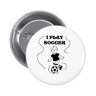 Boy I Play Soccer Pinback Button