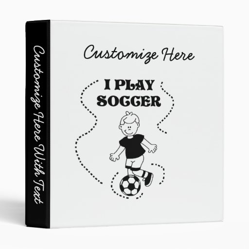 Boy I Play Soccer T-shirts and Gifts Vinyl Binder