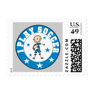 Boy I Play Soccer Tshirts and Gifts Stamps