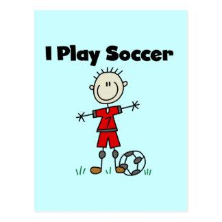 Boy I Play Soccer Tshirts and Gifts Postcard