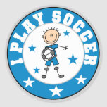 Boy I Play Soccer Tshirts and Gifts Round Stickers