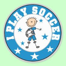 Boy I Play Soccer Sticker
