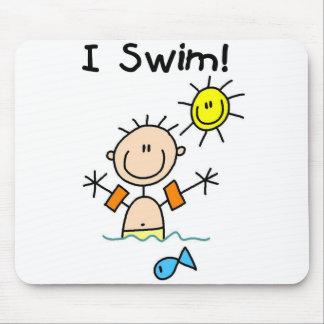 Boy I Swim Mousepad