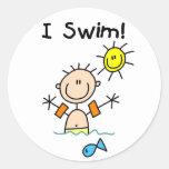 Boy I Swim Sticker