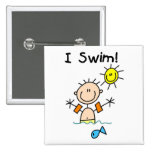 Boy I Swim T-shirts and Gifts Buttons