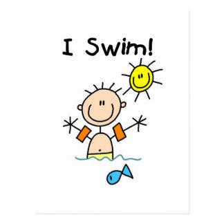 Boy I Swim T-shirts and Gifts Postcard
