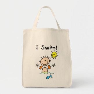 Boy I Swim T-shirts and Gifts Tote Bag