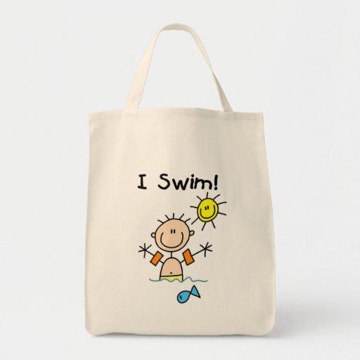 Boy I Swim T Shirts And Gifts Tote Bag Zazzle