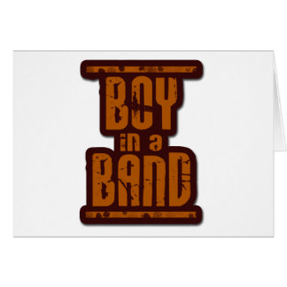 Boy In a Band Greeting Cards