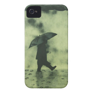 Boy in a rainy day iPhone 4 cover