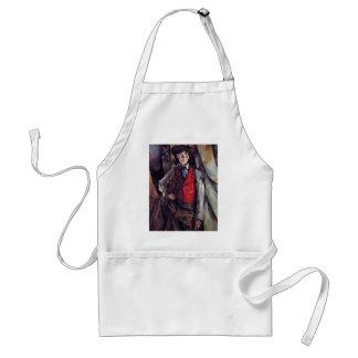 Boy In A Red Waistcoat,  By Paul Cézanne Adult Apron